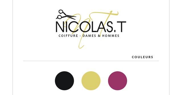 [XT DESIGN WEB] print NICOLAS-T coiffeur à Woluwe Saint Pierre planche couleurs